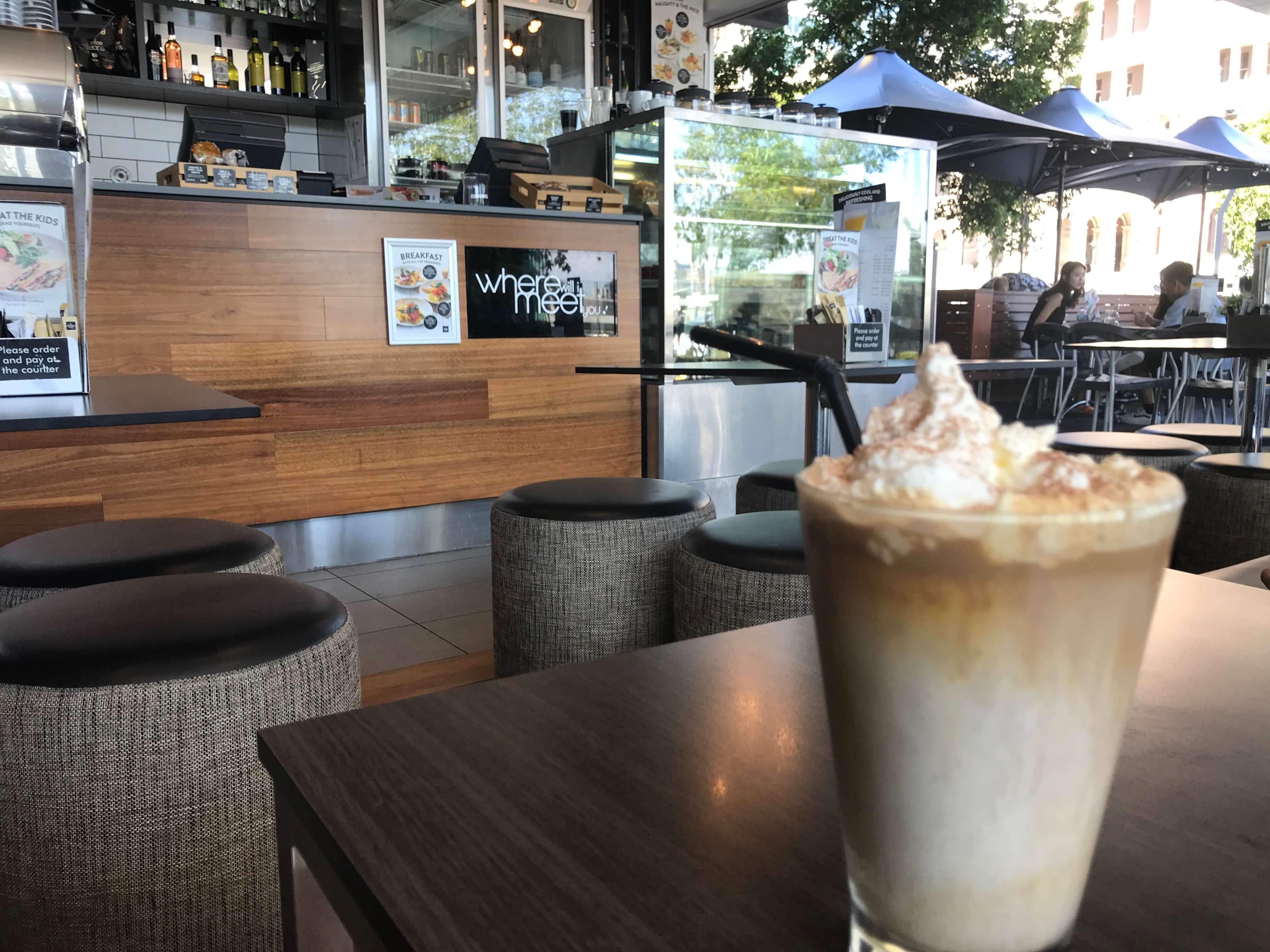 ブリスベンのカフェ
