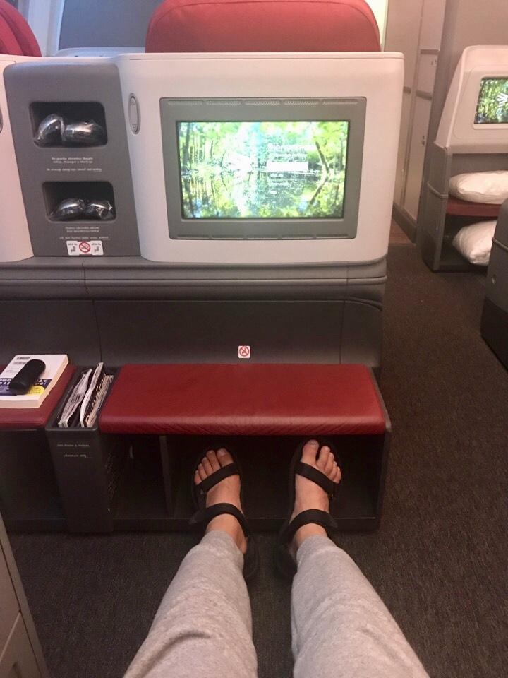 ラン航空ビジネスクラスの座席
