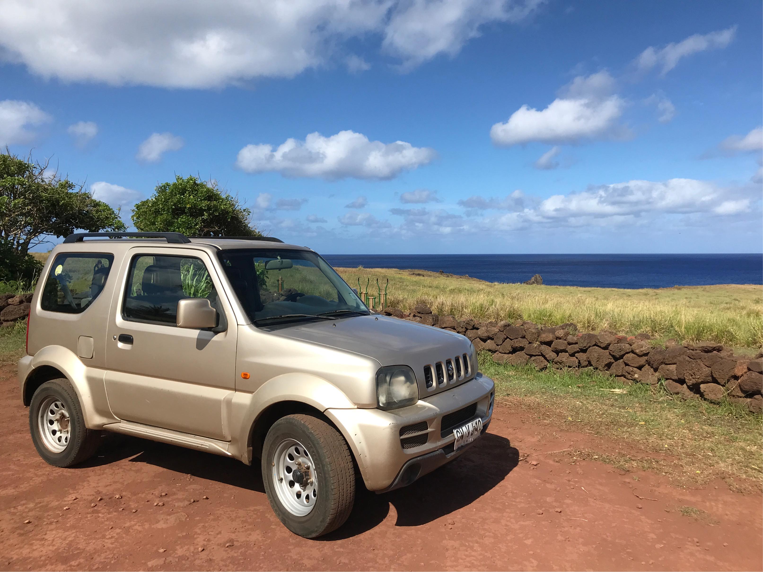イースター島のレンタカー