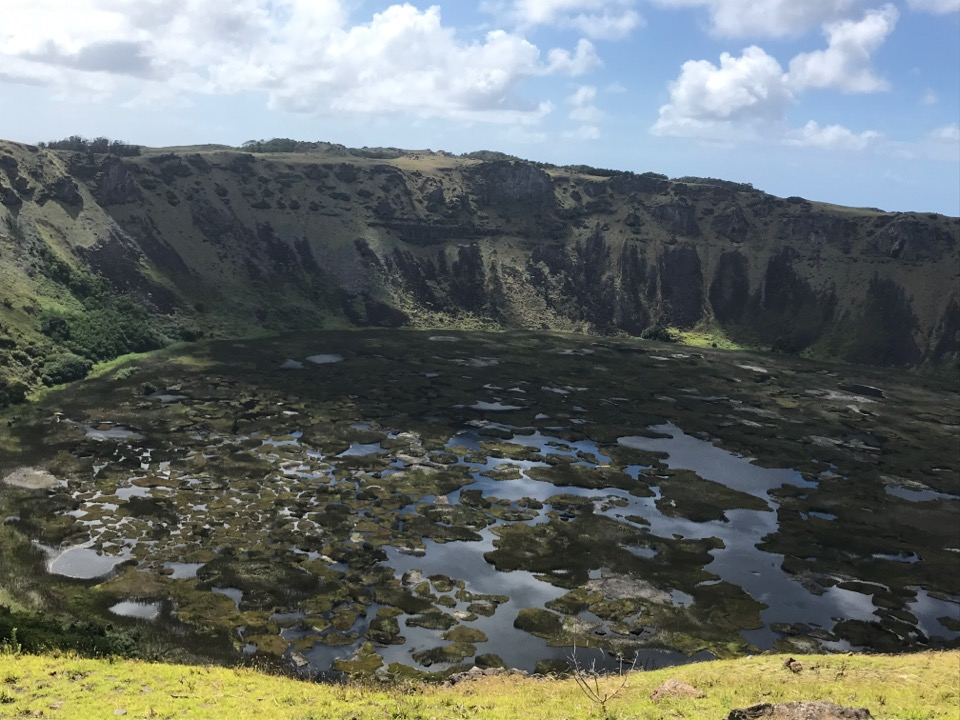 イースター島火山口