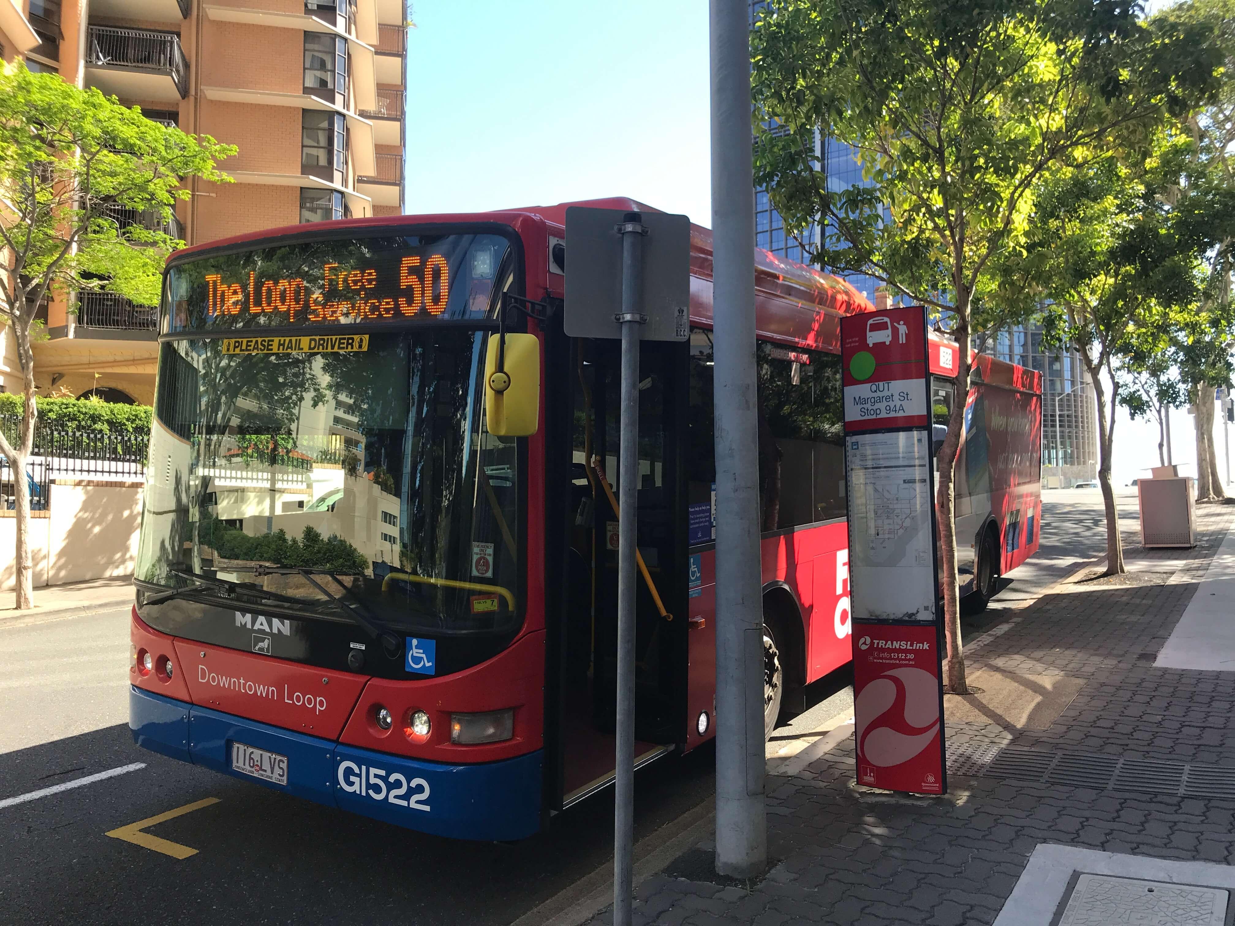 ブリスベンの市内バス