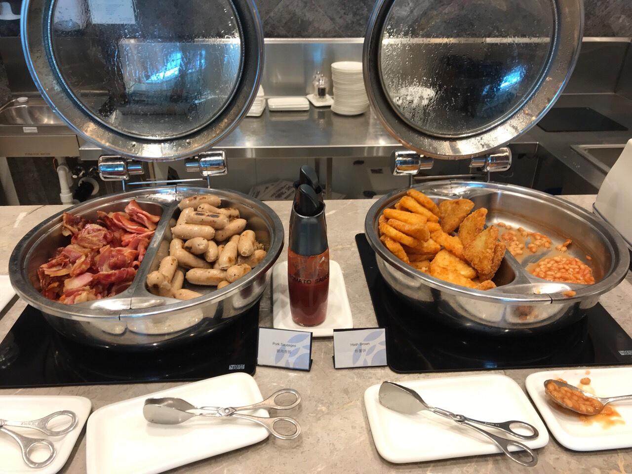 ブリスベン空港ラウンジの食事