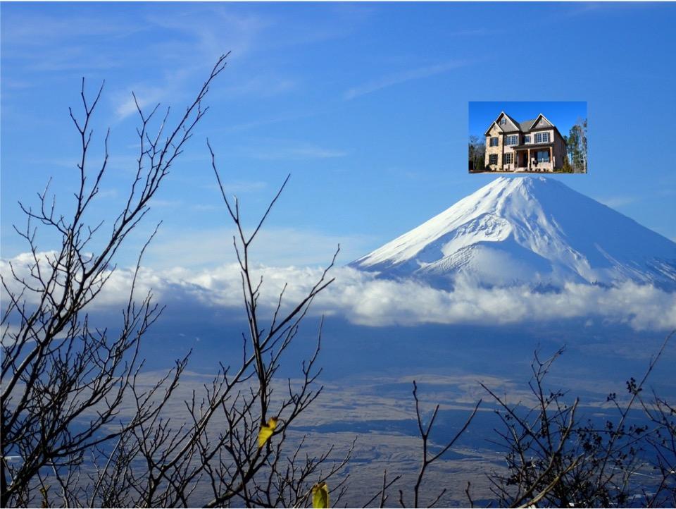 富士山合成写真