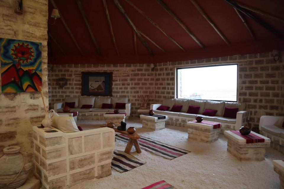 ウユニ塩湖の塩ホテル