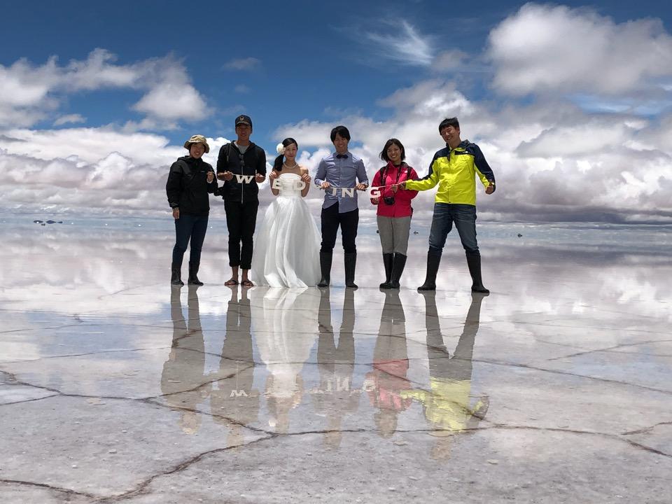 ウユニ塩湖集合写真
