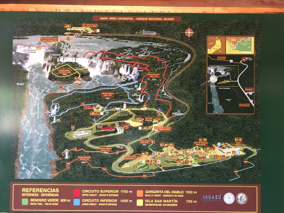 イグアス国立公園の地図