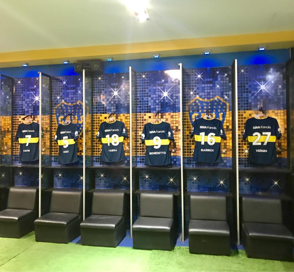 ボカスタジアムのロッカールーム
