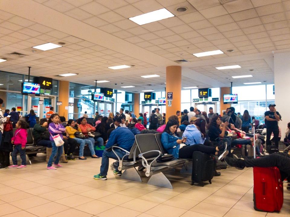 リマ空港の搭乗口