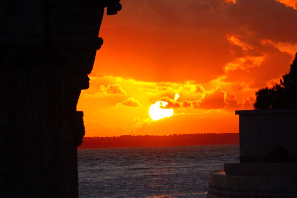 ベレンの塔からの夕日