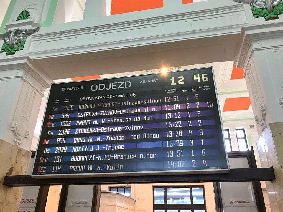 駅の掲示板