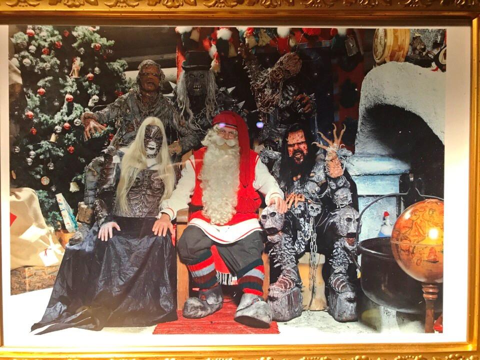 サンタとの写真