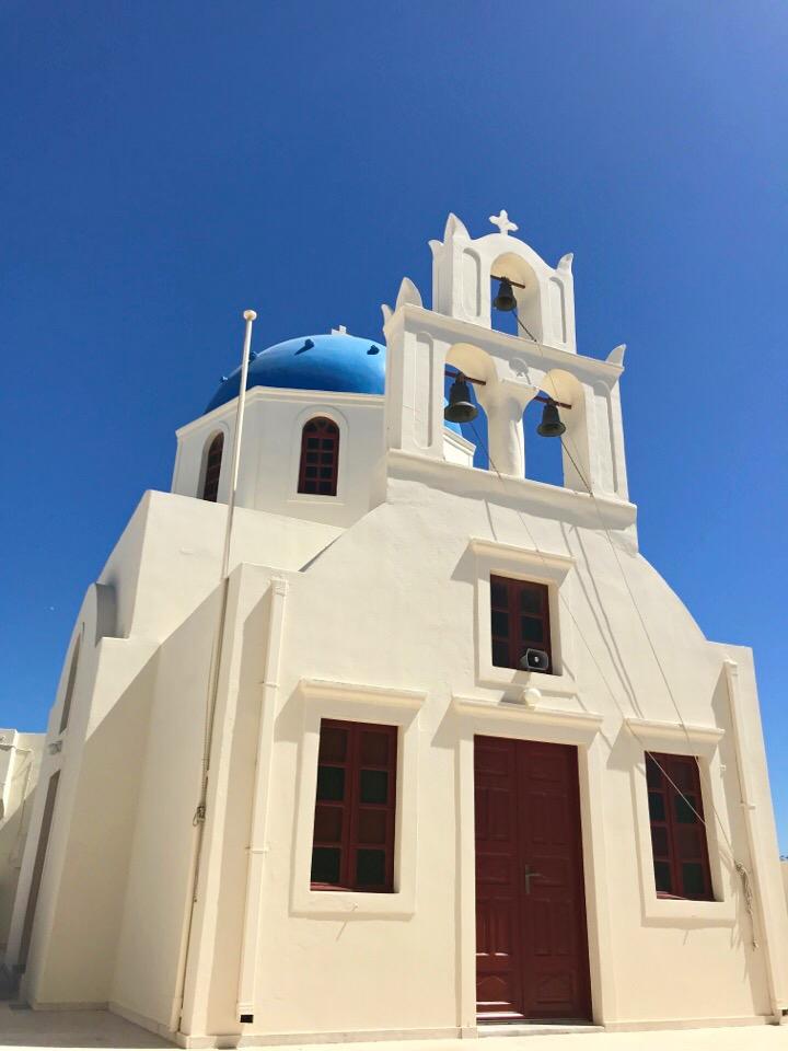 サントリーニ島の建物