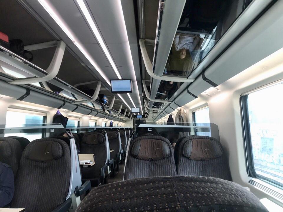 イタリアの電車内